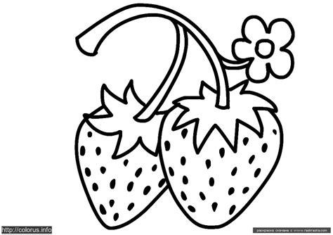 imagenes para colorear fresa 5 dibujos de fresas para pintar