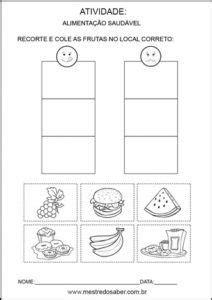 Projeto alimentação saudável educação infantil - Recorte e