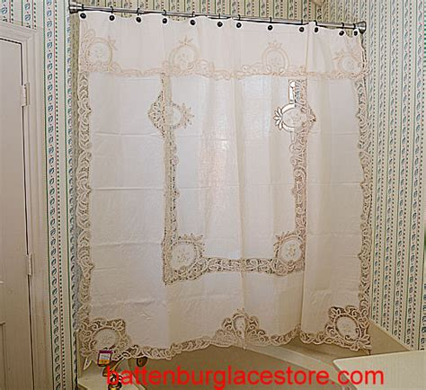 Battenburg Lace Curtains Battenburg Lace Shower Curtains Ecru Color Piineapple Battenburg Lace