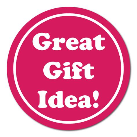 quot great gift idea quot white on pink circle stickers