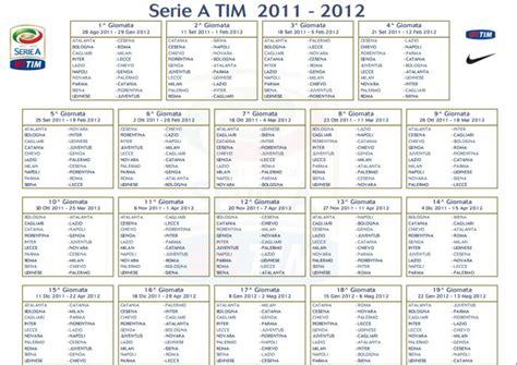 Calendario Serie A Tim Pdf Calendario Serie A 2011 2012
