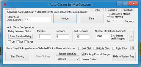 tutorial auto keyboard murgee auto clicker controlled with keyboard shortcut key