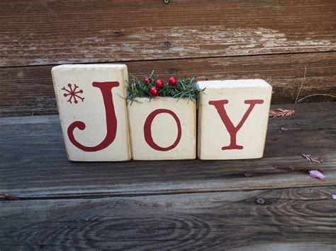 joy christmas blocks holiday decor