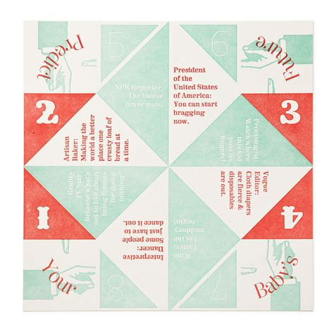 Fortune Teller Paper Fold - exles of paper fortune tellers visual language