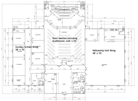 Church Fellowship Hall Floor Plans by Construction Archive Beacon Free Will Baptist Church