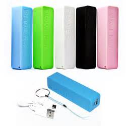 2600 mAh battery Power bank portable charger available at