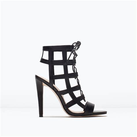 Buy Zara Gift Card - sandales enveloppantes en cuir talon sandales chaussures femme zara france