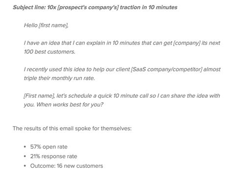 Why Some Of My Best Cold Emails Are Dead Salesfolk The Best Cold Email Template
