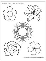 coloring pages of different types of flowers flowers printable templates coloring pages