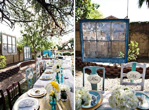 Backyard Wedding by Real Wedding Catie Ben S Vintage Inspired Backyard