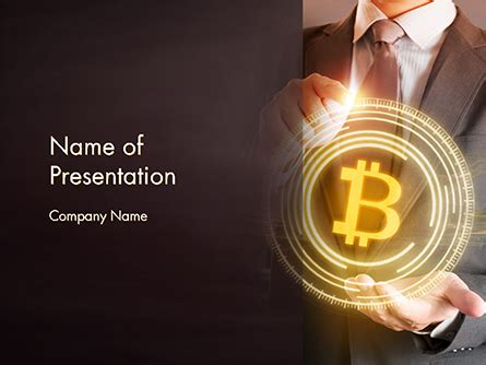 Businessman Control With Bitcoin Technology Powerpoint Template Backgrounds 14738 Bitcoin Powerpoint Template