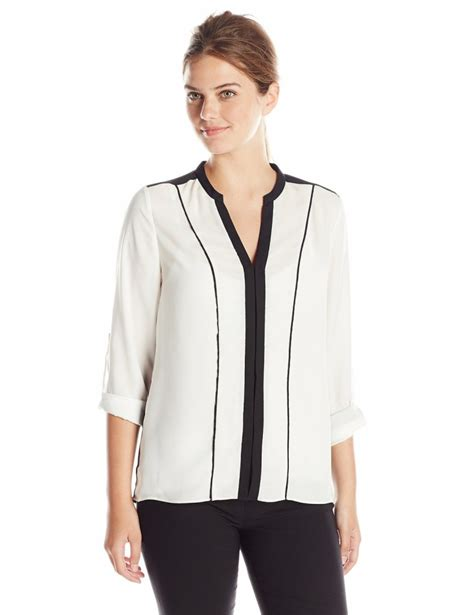 Hq 18219 V Neck Casual Blouse wear to work blouses clothing