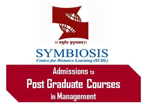 How To Get Admission In Symbiosis For Mba by Scdl Announces Admission To Post Graduate Courses In