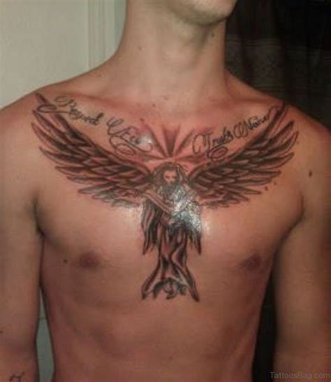 angel tattoos on chest 86 graceful tattoos for chest