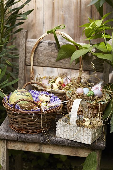Homemade Easter baskets