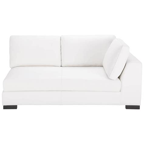 modular sofa bed leather rhf modular sofa bed in white terence maisons du