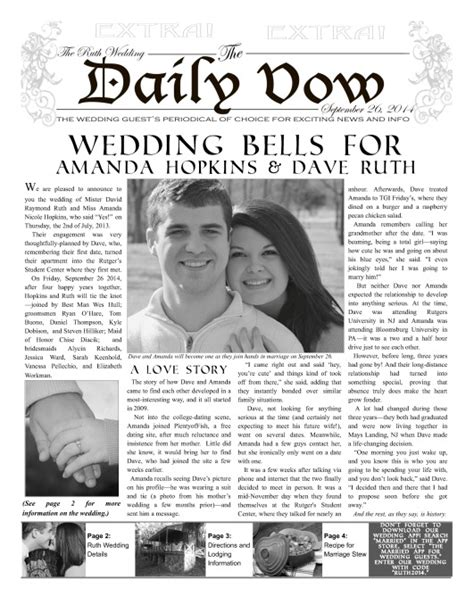 Wedding Newspaper Template by Enewspapers And Print Newspapers For Everyone Makemynewspaper