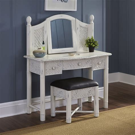 marco island vanity and bench white finish contemporary
