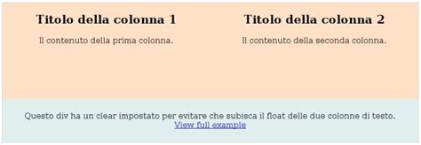 allineamento testo html come allineare due div css icelab