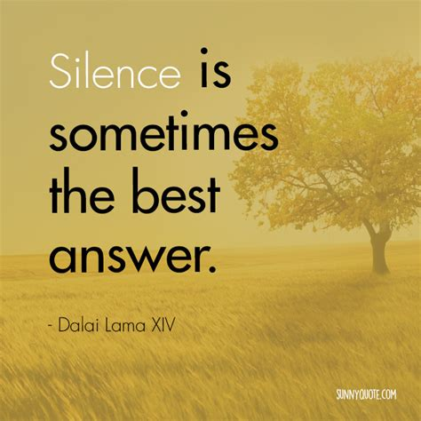Is The Answer quotes silence is the answer quotesgram