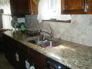 Kitchen Backsplash Ideas With Santa Cecilia Granite Santa Cecilia Granite Countertops With Tile Backsplash In Flickr