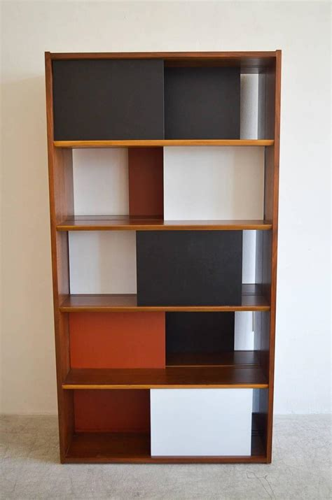 Hinged Bookcase room divider or hinged bookcase by clark for glenn of california at 1stdibs