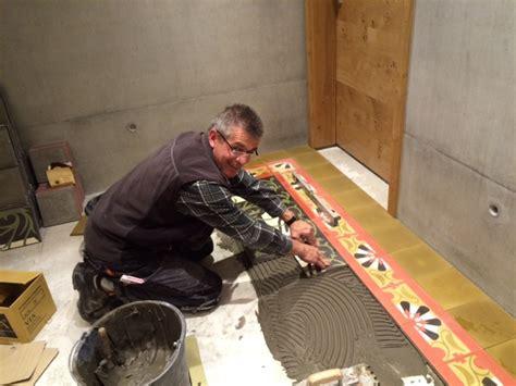 zementfliesen verlegen verlegung zementplatten