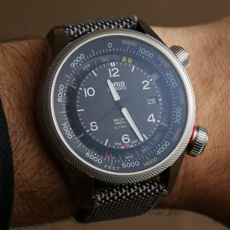 automatic bid oris big crown propilot altimeter on flying