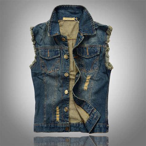 Casual Denim Navy navy blue vest 2016 fit s casual denim waistcoat sleeveless jacket big size m 5xl