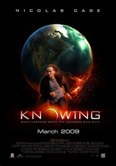 movie nicolas cage end of the world knowing trailer knowing movie poster