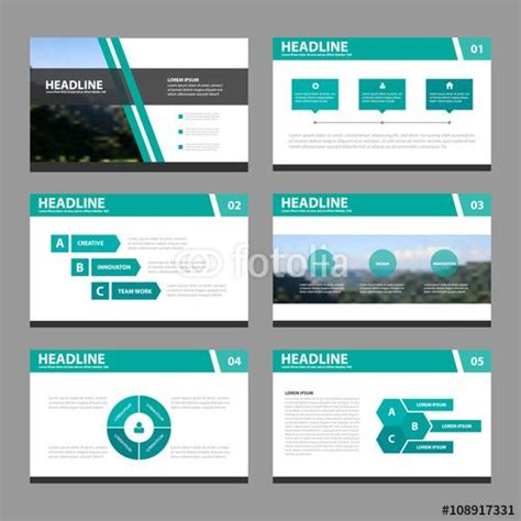 presentation layout image vector green black presentation templates infographic