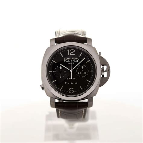 buy officine panerai luminor 1950 chrono monopulsante 44mm leather montredo