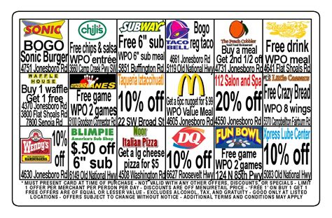fundraising cards templates sle fundraising discount cards easy fundraising cards 174