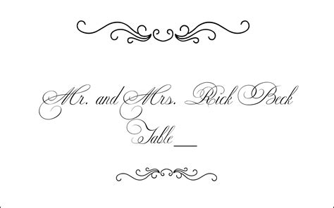 caligraphy place card template free 13 free calligraphy border designs images vintage corner