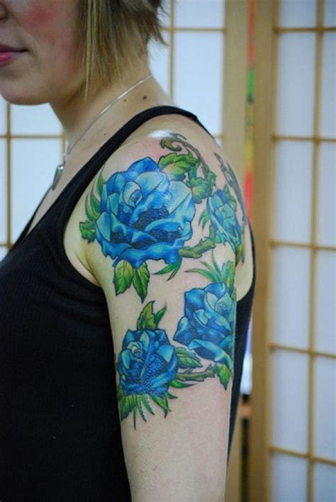 blue rose tattoos beautiful designs for designs