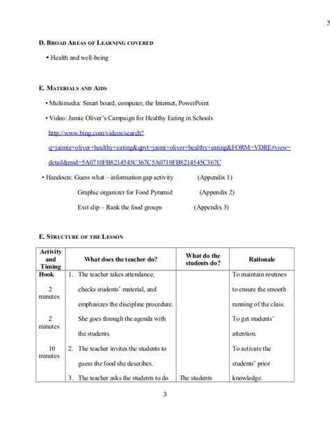 health lesson plan unit plan and lesson plan templates