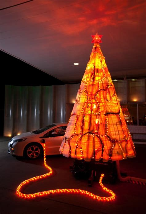 christmas tree electric parts visualized a tree made out of chevrolet volt parts