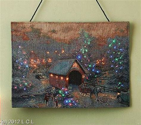 thomas kinkade fiber optic tapestry style bannerette wall