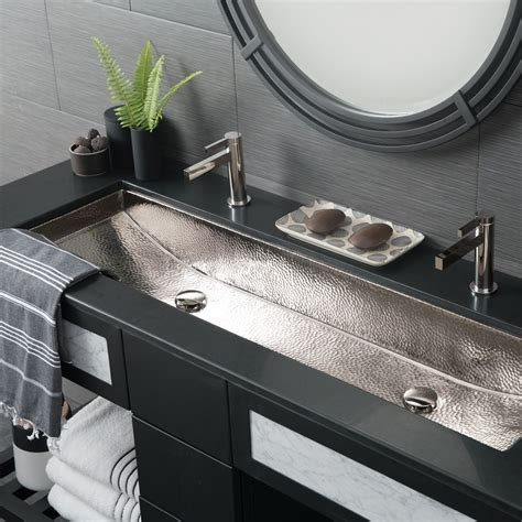 2 bathroom sink trough 48 basin rectangular bathroom sink