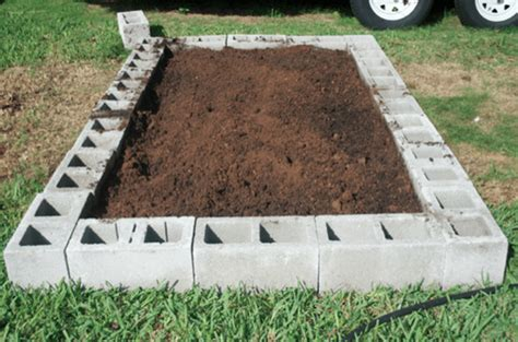 cinder block garden bed raised garden beds a home gardening solution