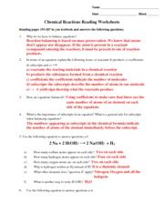 11 1 describing chemical reactions section review answers types of reactions worksheet and key balance the