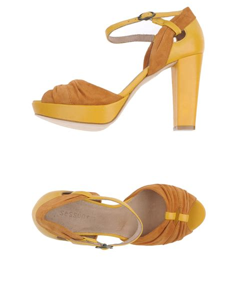 yellow platform sandals sessun platform sandals in yellow lyst