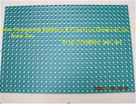 china color hotel rubber mats anti slip perforated rubber