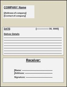 business receipt template word goods or product delivery receipt microsoft word templates