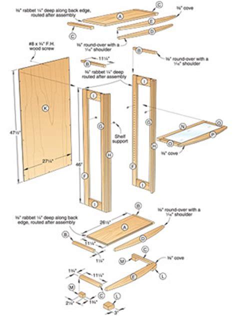 Plans Wood Display Case