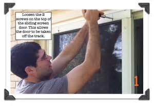 How To Remove Sliding Patio Door by Sliding Screen Door Repair Removing A Sliding Screen