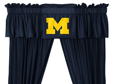 curtains university ncaa university of michigan wolverines 5pc jersey drapes