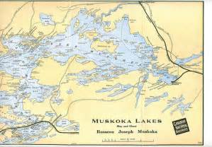 muskoka canada map cnr phlet muskoka lakes 1927 map right explore
