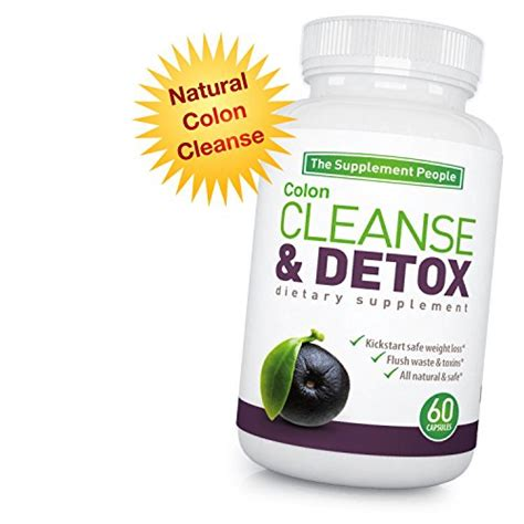 Cleanse Detox Gentle Weight Loss Supplement 60 Capsules by Acai Berry Cleanse Herbal Supplement For Colon Health