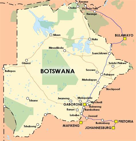 botswana map countryguide botswana